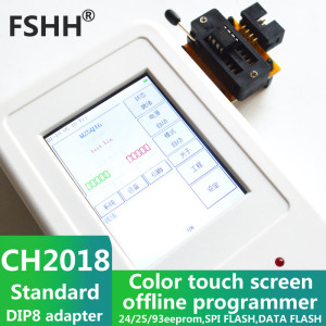 Image 2 - CH2018 Color screen offline programmer SPI programmer 24/25/93EEPROM DATA SPI FLASH