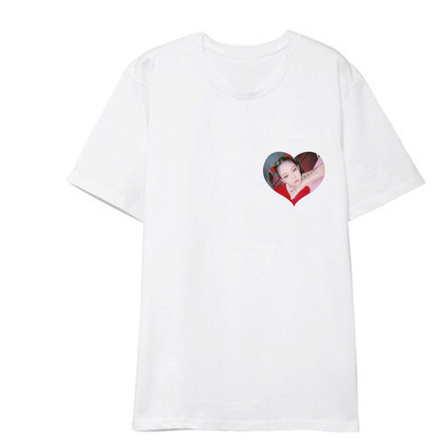 BlackPink Heart T-Shirt Tee Shortsleeve Lisa Rose Jennie Kim Jisoo