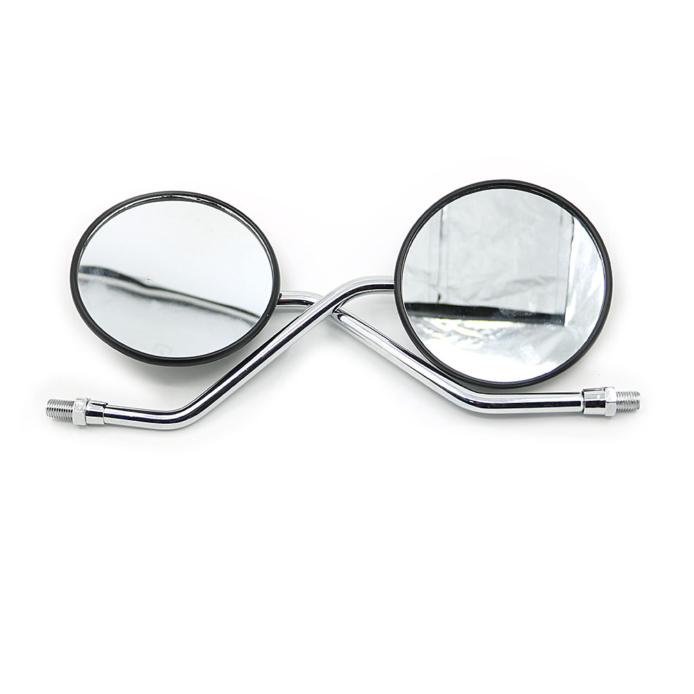 M10 Screw Rear View Glass Side Mount Mirrors Set For Yamaha DT125 AT1 CT DS <font><b>DT</b></font> RD RS XS 100 125 175 200 250 350 360 400 <font><b>500</b></font> image