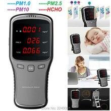Купить с кэшбэком WP6910 Digital Air Detector PM2.5/ PM1.0/ PM10/ HCHO Meter Tester with Rechargeable Lithium Battery