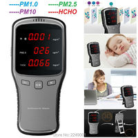 WP6910 Digital Air Detector PM2 5 PM1 0 PM10 HCHO Meter Tester With Rechargeable Lithium Battery