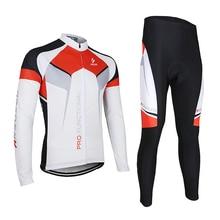 Cycling Sets Spring Summer Autumn Men Long Sleeve Bike Bicycle Jersey Jacket