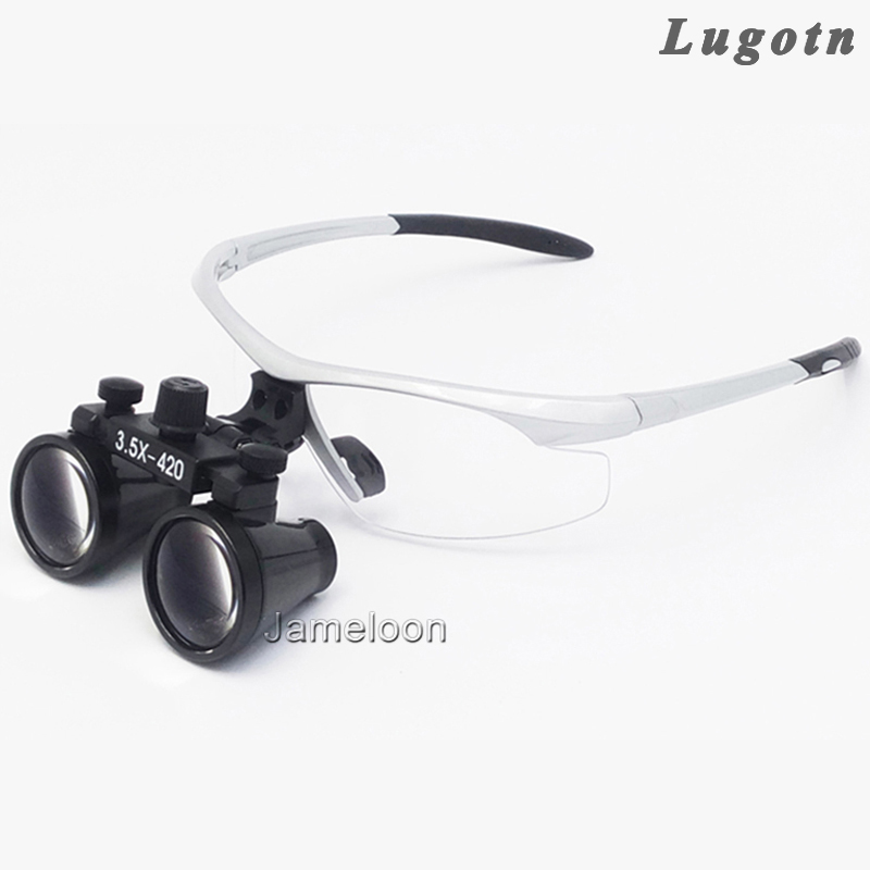 3.5X enlargement surgical magnifier medical binocular antifog optical glasses ENT dentistry stomatology oral dental doctor loupe