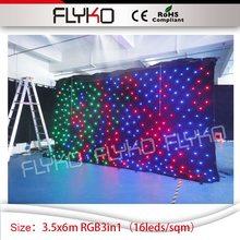 3.5 м * 6 м светодиодный занавес звезды свадьбы фоне RGB3in1 освещения led дисплей ТВ-шоу оформление сцены