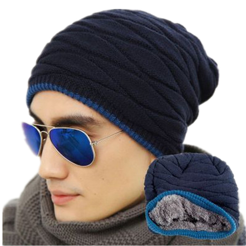 Unisex Spring Fashion Beanies Knit Beani Hat Winter Hat For Man And Women Solid Color Elastic Hip-Hop Cap Gorro Two Styles  цены