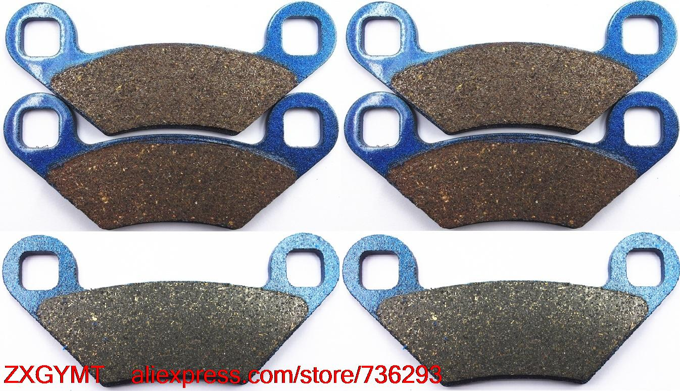 Motorcycle Semi Met Disc Brake Pads Set fit POLARIS 800 Sportsman ( from 16.12.2008 ) 2009 & up motorcycle disc brake pads fa473 fit for can am spyder rs ses 990cc 08 09 phantom black