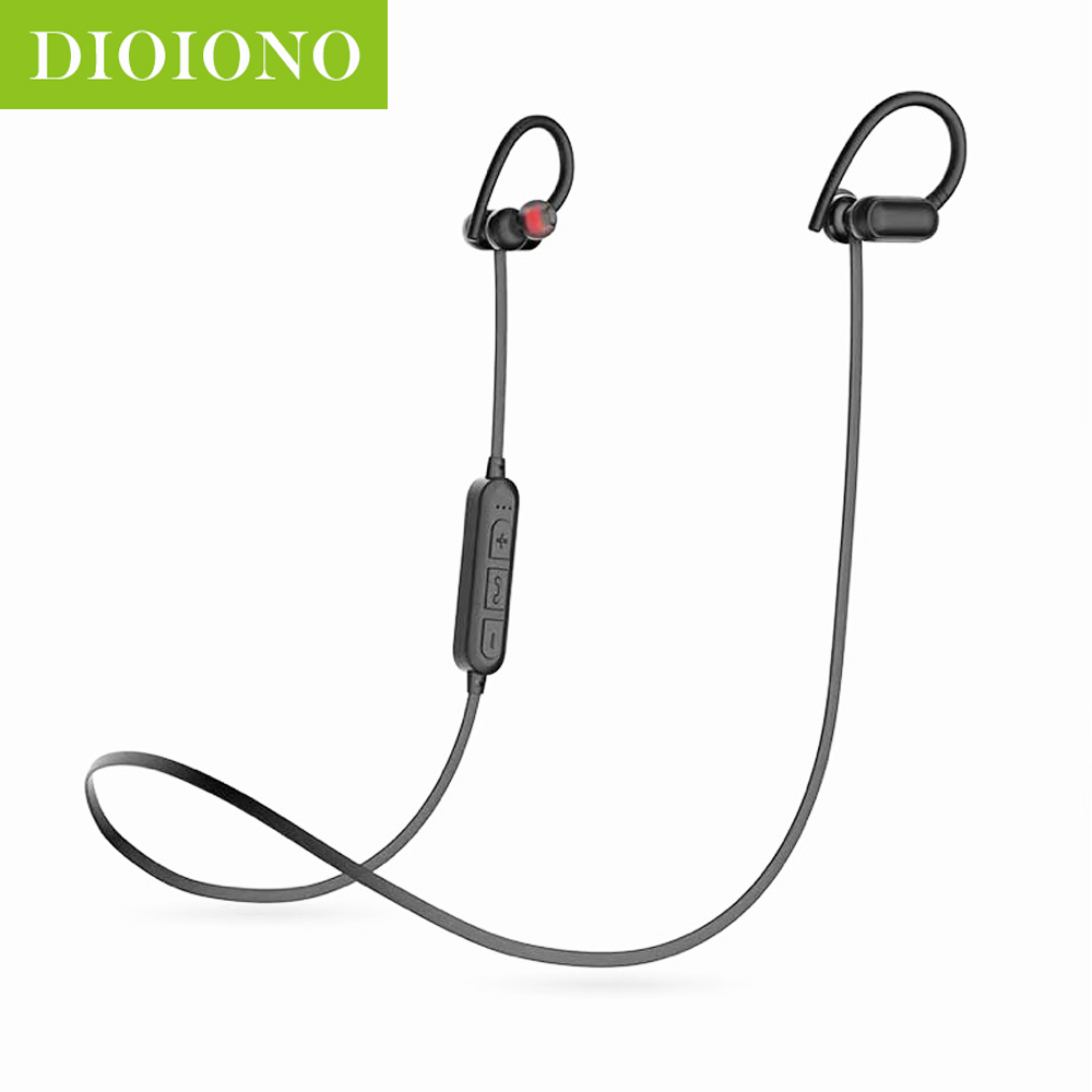 DioIono Wireless Bluetooth 5.0 Sports Headset Earphone 6D Surround Cordless HIFI Strong Bass Support TF Card Earpiece Earbuds