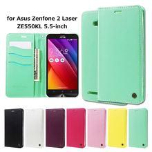 Рев Корея Coque для Asus Zenfone 2 Laser ZE550KL случаев только один Флип кожаный бумажник чехол для Asus Zenfone 2 лазер ZE550KL