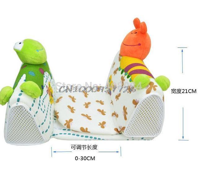 Sozzy bonito Do Bebê moldar travesseiro bebê travesseiro anti capotamento Bebê Seguro Anti Rolo Travesseiro Sono Cabeça Posicionador
