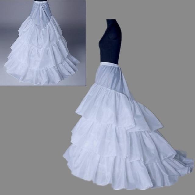 Wedding Petticoat 2017  New Arrives 100% High Quality 3-hoop Tulle    Underskirt Crinolines for  Dress  Bridal Petticoats