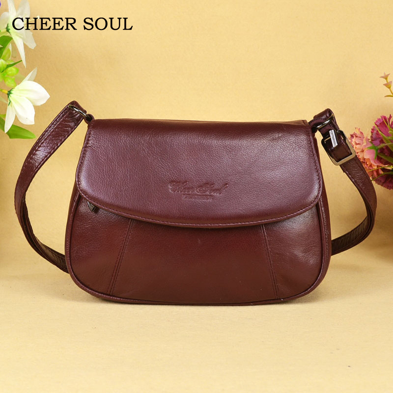 Image 3 - CHEER SOUL Genuine Leather Small Ladies Messenger Bags Female 