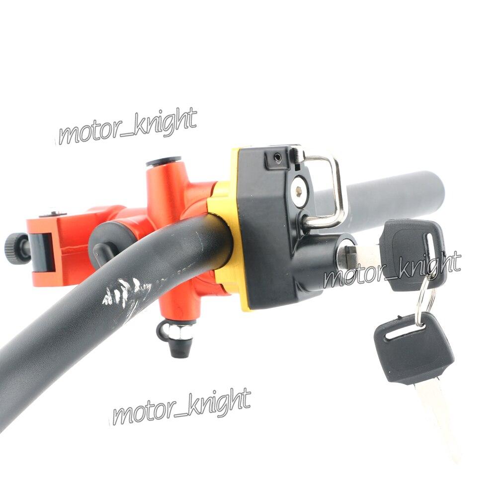 Motorcycle Handlebar Clamp Helmet Lock Hanging Hook 2 Keys For YAMAHA YZF R1 R6 R25 R3 FZR1000 R125 TRACER700/900 TENERE 700