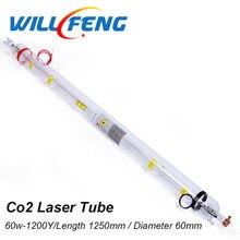 は風水 60 ワット Co2 レーザーチューブ長さ 1250 ミリメートル直径 55 ミリメートル 6040 9060 Co2 レーザーカッター機、 cnc レーザーランプ部品