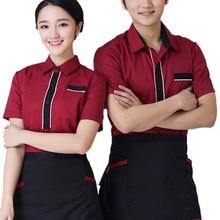 New Arrival Chef Uniform Food Service Restaurant Waitress Waiter Jacket Hotel Kitchen Clothing Chef Clothes Coat + Apron