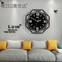 Acrylic Large Slient Movement Wall Clock Free Shipping 3D Digital Wall Sticker Home Clock Metal Needle Modern Black Quartz Watch