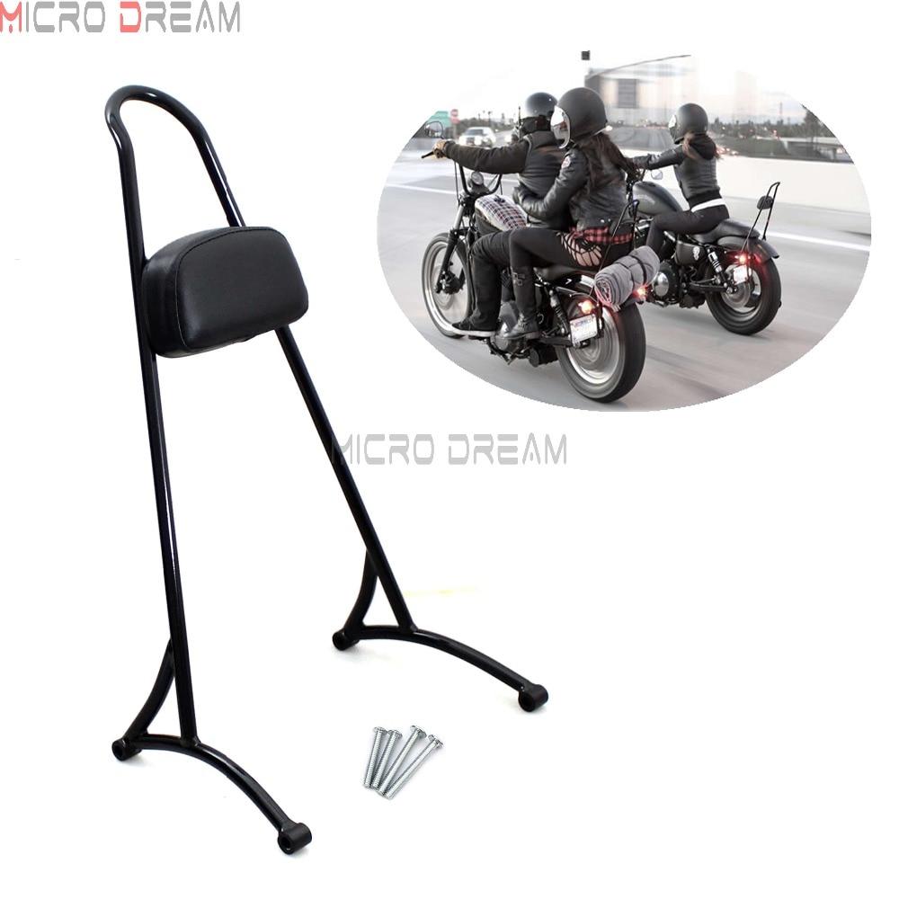 Detachable Passenger Backrest Sissy Bar Pad Seat for Harley Sportster XL883 1200