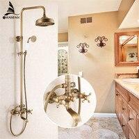 Ванная комната смеситель для душа набор Античная Ванна смеситель для раковины ванны смесители для душа водопад душевая головка настенный с