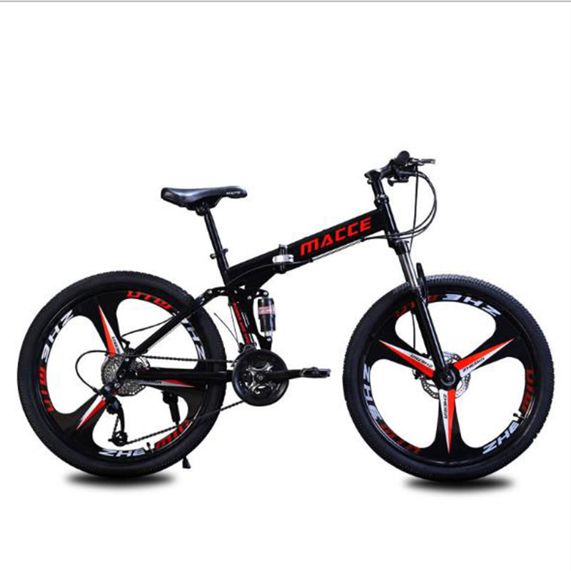 26-Inch Folding Mountain Bike Speed Change Double Vibration Absorber One Bicycle