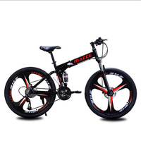 26 Inch Folding Mountain Bike Speed Change Double Vibration Absorber One Bicycle