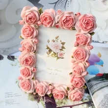 European-style 6inch resin photo frame carved flower oval high-grade