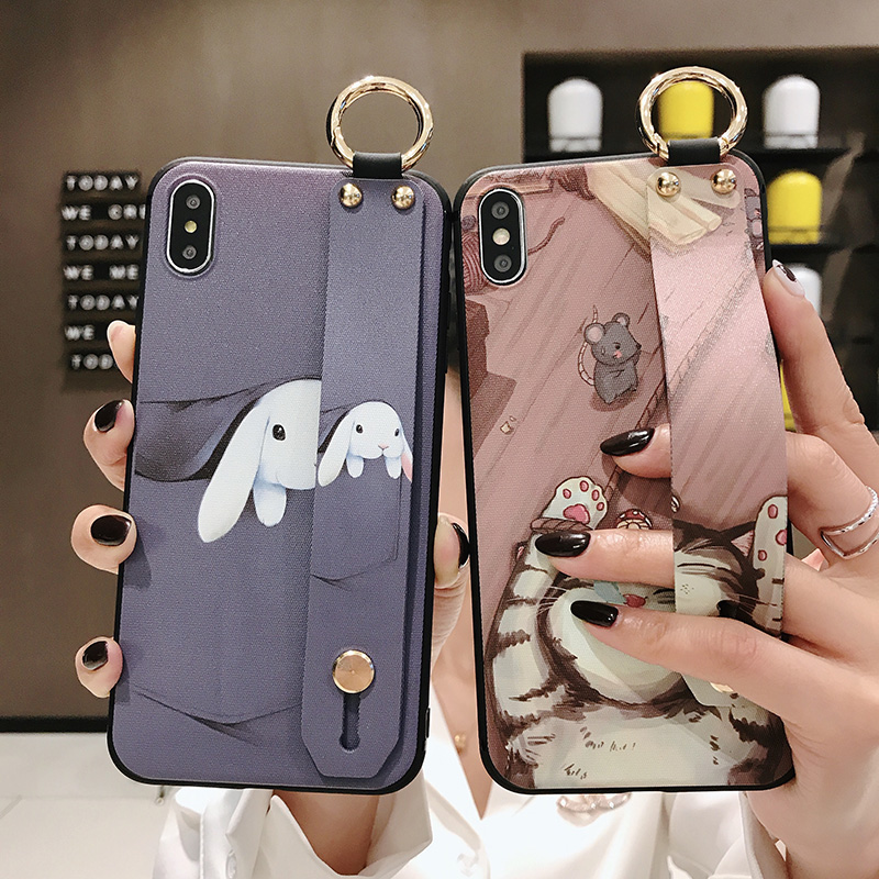 Girls Fashion Case with Wrist Strap for iPhone 11/11 Pro/11 Pro Max 26