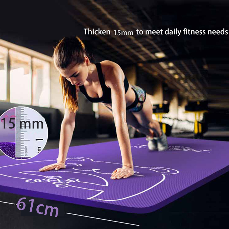 Body Line Thick Hot Yoga Pilates Mats Gymnastics Balance Pads Fitness Mats Non-Slip Dance Pads 2