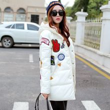 Winter Women In The Long Feather Cotton Jacket Jacket Europe and The United States Large Cotton Thick Jacket