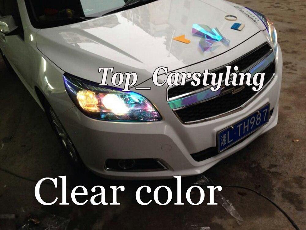 1 Roll Clear Chameleon Headlight Tint Film Car Taillight Fog Vinyl