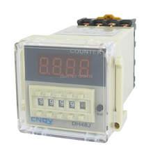 DH48J-A 1-999900 Contagem Up Contador Digital Relay w Base de AC/DC 12 V 24 V 220 V 110 V 50/60Hz