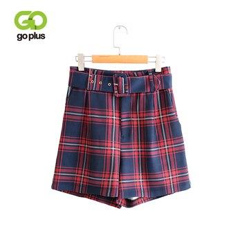 79665a0d6 GOPLUS coreano Pantalones Cortos de verano de las mujeres casuales Vintage  alta cintura pierna ancha ...