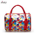 HISUELY Hot Sale  New Jelly Candy Colors Clear Transparent Handbag Tote Shoulder Bags Beach Bag For Women Fashion Waterproof Bag