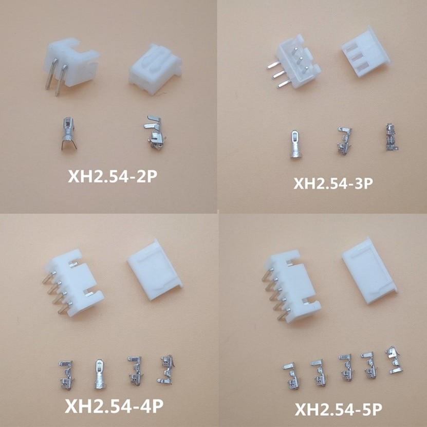 20sets XH2.54 2P 3P 4P 5P 6P 7P 8P 9P 10P 12P Connector 2.54mm XH 90 Angle Header + Housing + Terminal For PCB Car