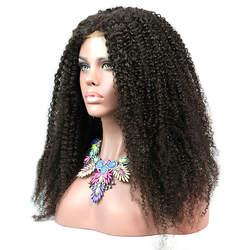 Promqueen синтетические волосы на кружеве человеческие парики, бразильские волосы кудрявый вьющиеся 300% высокой плотности натуральных волос