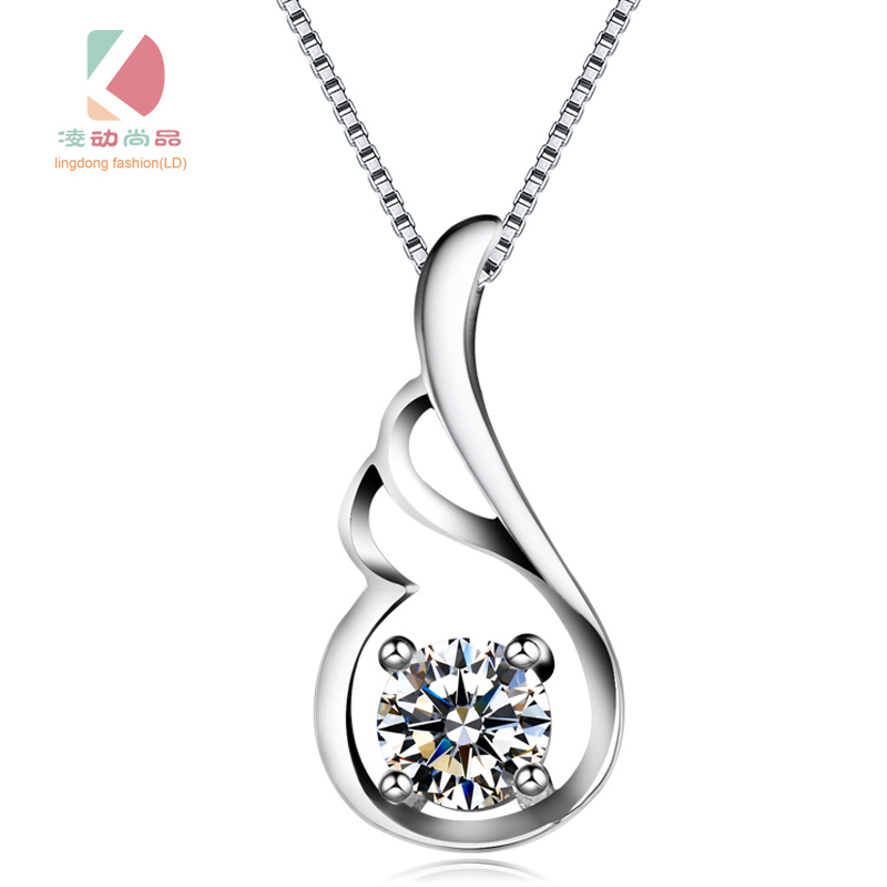 angle's feather series fashion sexy necklace festival gift Lingdong Fashion brand 2017 silver 925 jewelry pendant