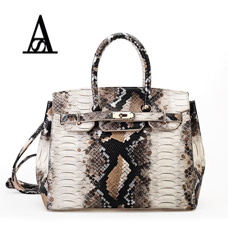 Luxurious PU snake bag shoulder woman messenger bag Leisure bag Hobo bag Baiking