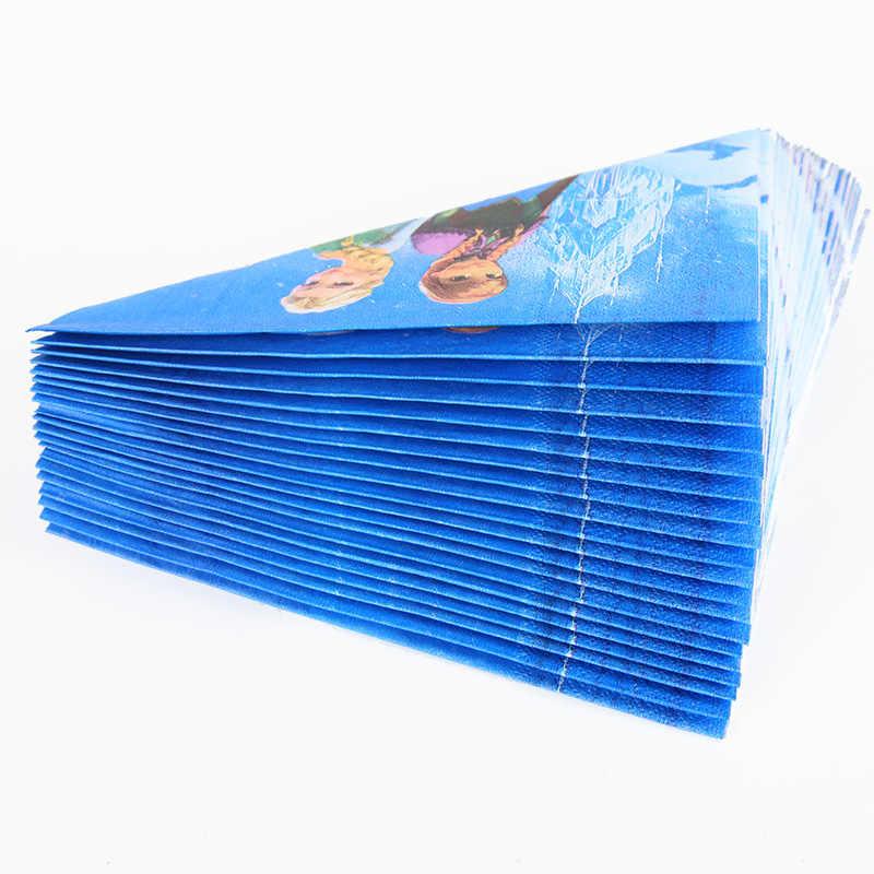 90 قطعة مناسبة ل 20 شخص المجمدة حفلة آنا إلسا الأميرة مجموعة أدوات المائدة مجموع الأطفال حفلة عيد ميلاد لوازم الزينة
