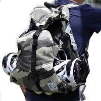 2Pcs Quad Skate & Roller Skates Bag Double Shoulder Backpack for Skating Boots Shoes Outdoor Skating Equipment