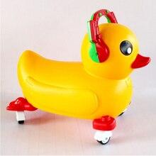 Ездить на Животных Желтая Утка игрушки для детей на открытом воздухе спортивные детские Рождественские Игрушки