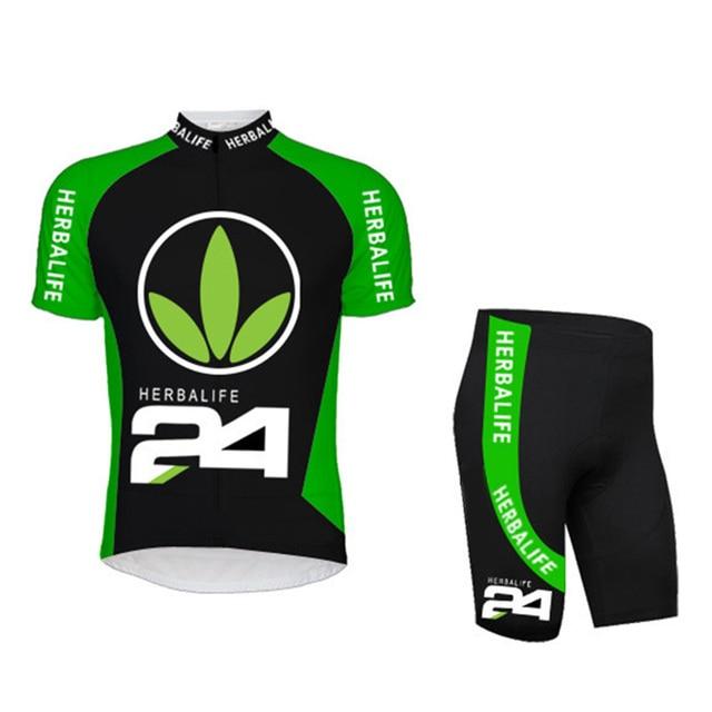 HOT!Classic Black HERBALIFE Cycling Jersey Short Sleeve Summer Maillot Ciclismo Men High Quality Bib Shorts MTB Bike Clothes Set