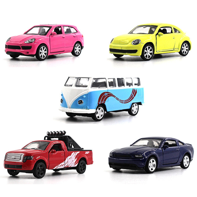 164 alloy car model kids toys 5pcs car series cayenne beetle f150 mustang volkswagen