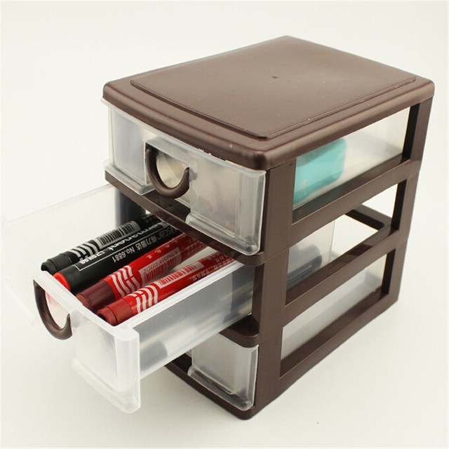 Plastic Desktop Storage Box Cosmetics Jewelry Sundries Container Holder Home Office Organizer Case Drawer Multilayer