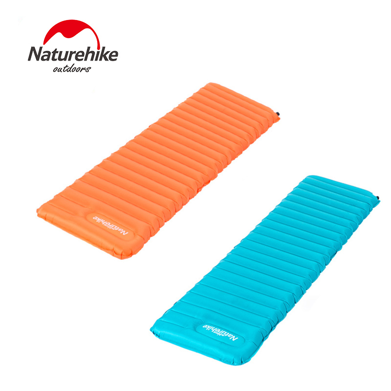ФОТО Naturehike new arrival Single Inflatable Mattress Outdoor Sleeping Pads Ultralight Portable Moisture-proof Camping Mattress