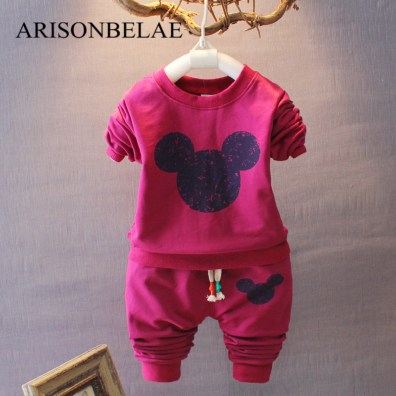 ARISONBELAE Baby Sweatshirt Boy Girl Shirt Blouse for Girls Mouse Head Pattern Long Sleeve Top+Causal Pants Children Costumes