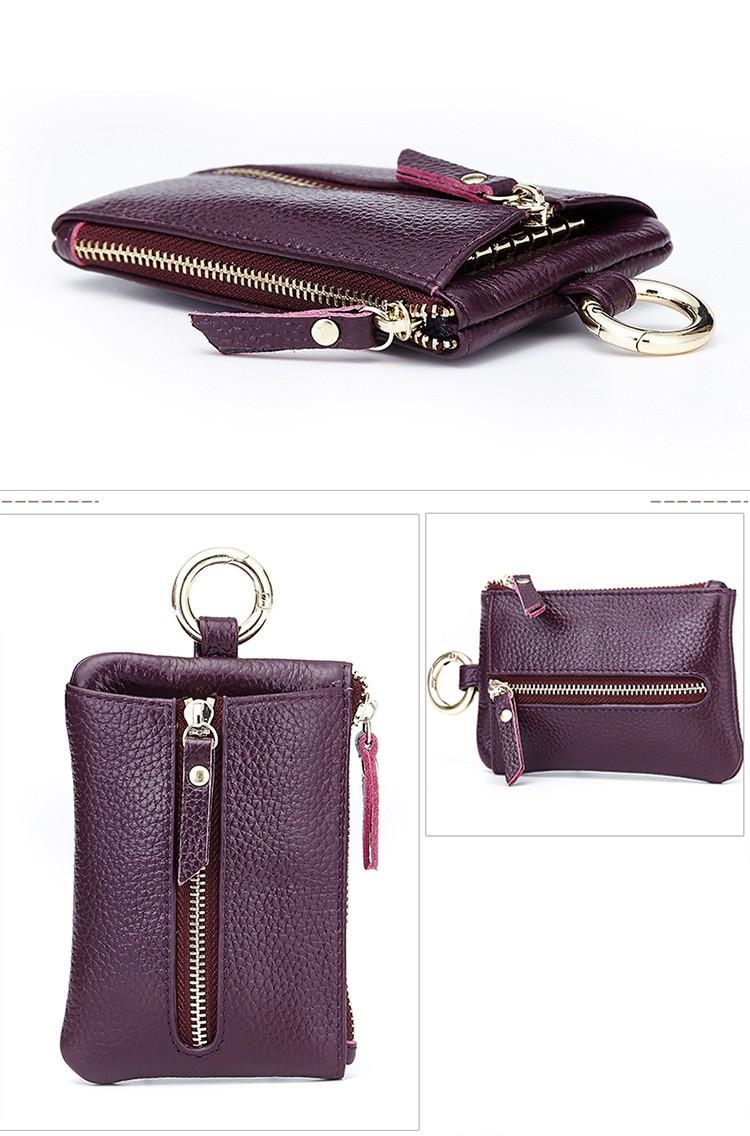 Women genuine leather key wallet 10-2