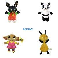 4pcs/Lot 25 30cm Cartoon Soft Bing Bunny Rabbit Toy Anime Stuffed Animals Plush Doll Sula Elepant Fox Unicorn For Girls Gifts