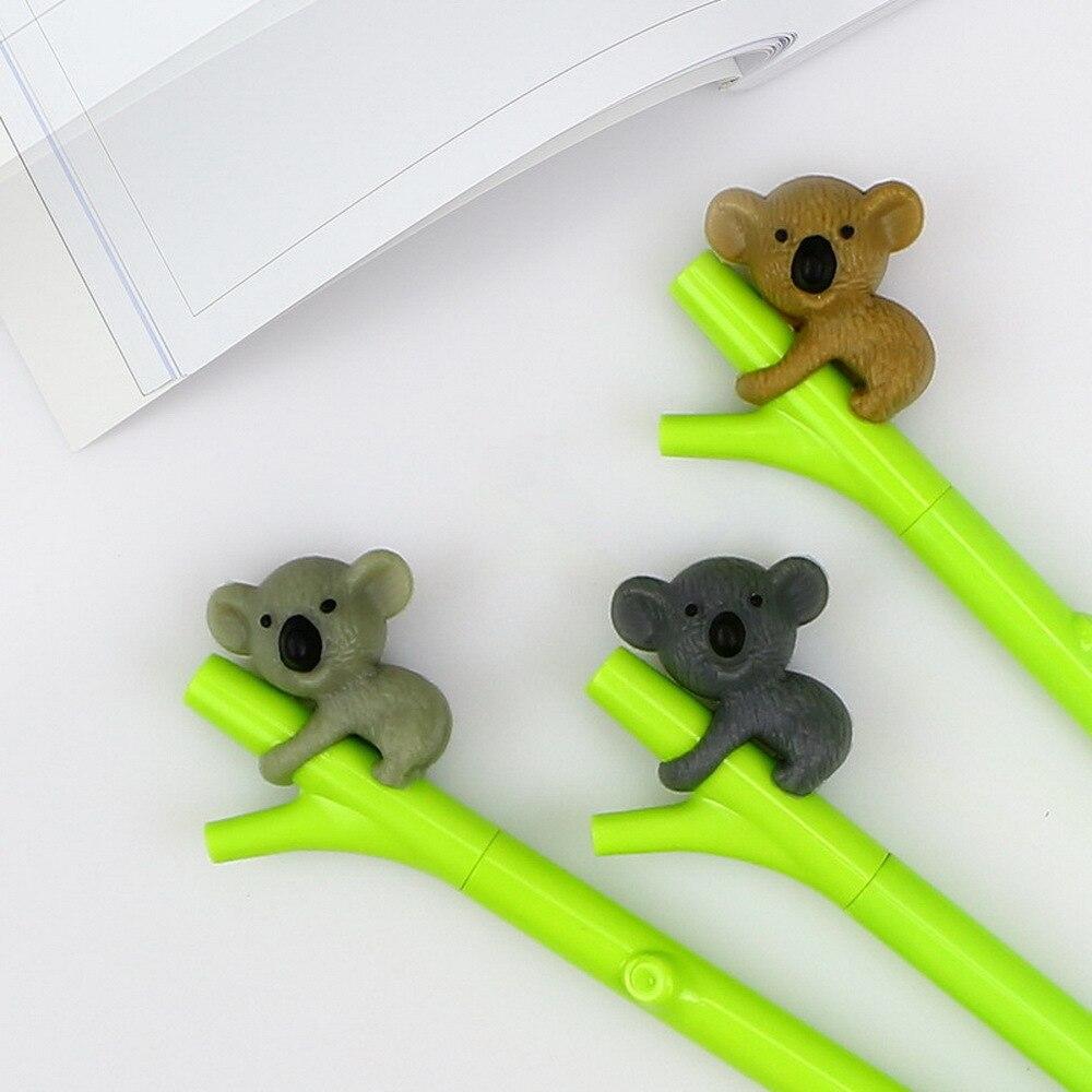 BP2pcs/lot Cute Koala Gel Pens Black ink 0.5mm Korean Stationery Cartoon Animal Pen Office Gift papelaria WJ-ZXB7 цена и фото