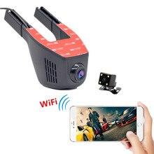 Акции Wi-Fi Камеры Автомобиля Видеорегистратор Мини Автомобильный ВИДЕОРЕГИСТРАТОР Полный HD 1080 P Двойная Камера Dash Cam Автомобиль Регистратор Автомобиля Черный коробка