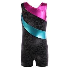 3-15Y Dívky Jeden kus Ballet Gymnastické tričko Dáta Tutu Stripe Bez rukávů Dívčí balet Dětské kostýmy Biketard