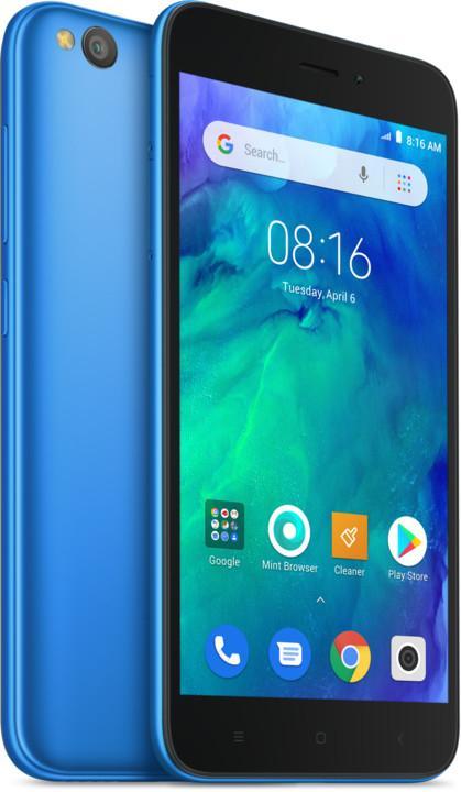 Xiaomi Redmi Go, Version globale, couleur bleu (bleu), double SIM, bande 4G/LTE/WiFi/Bluetooth 4.1, 8 Go Memoria I