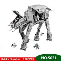 1206pcs Diy Star Series Wars Force Awaken AT Transpotation Armored Robot Compatible With Legoingly 75054 Blocks Bricks Toys